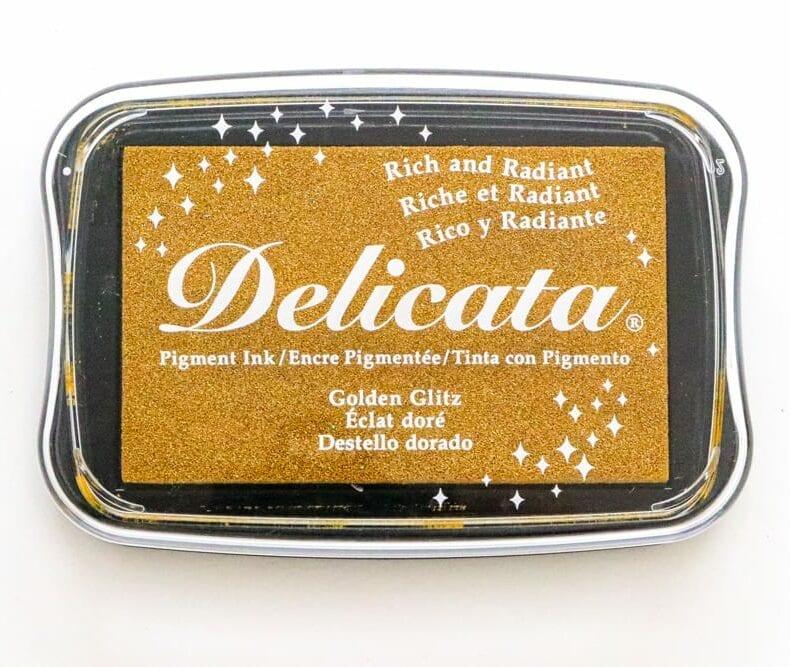 Großes Stempelkissen Gold von Delicata mit Metallic-Effekt