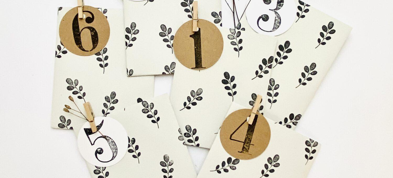 Last Minute DIY Adventskalender stempeln – Für schöne Worte & Gedanken statt Zeug