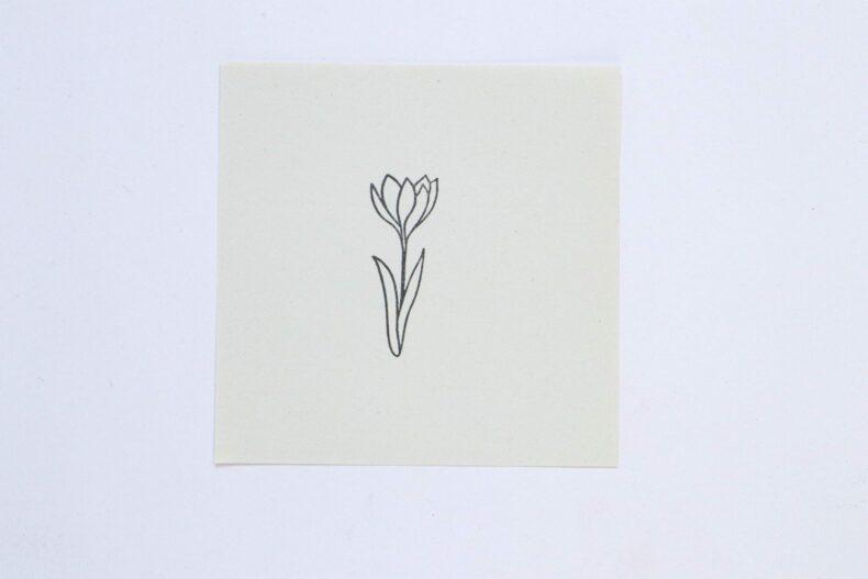 Stempel Krokus Frühblüher - botanische Stempel von STUDIO KARAMELO