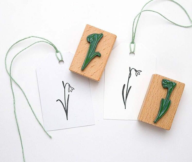 Stempel Schneeglöckchen Set - botanische Stempel von STUDIO KARAMELO