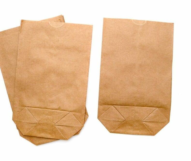 Geschenktüten aus braunem Kraftpapier, Flachbeutel für Geschenke und Mitbringsel STUDIO KARAMELO