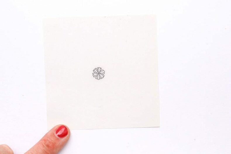 Mini Stempel Korbblüte – Botanische Stempel von STUDIO KARAMELO