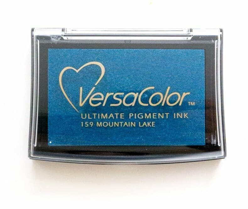 Stempelkissen blau/petrol Mountain Lake von VersaColor STUDIO KARAMELO