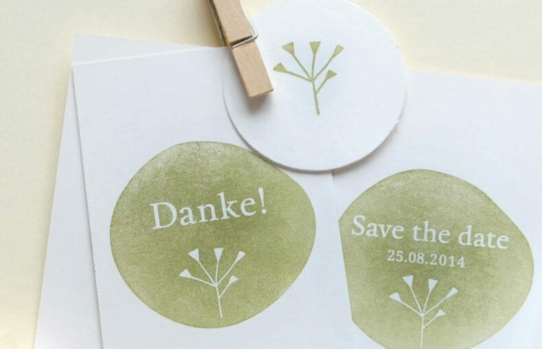 Individuelle Hochzeits-Stempel | custom made wedding rubber stamps