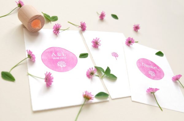 Individuelle Hochzeits-Stempel | custom made rubber stamps for your wedding