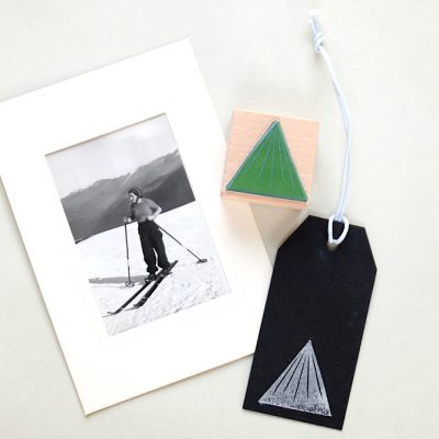 Stempel Berg Dreieck | rubber stamp triangle mountain