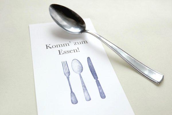 Küchenstempel, Stempel-Set Besteck | rubber stamp set cutlery