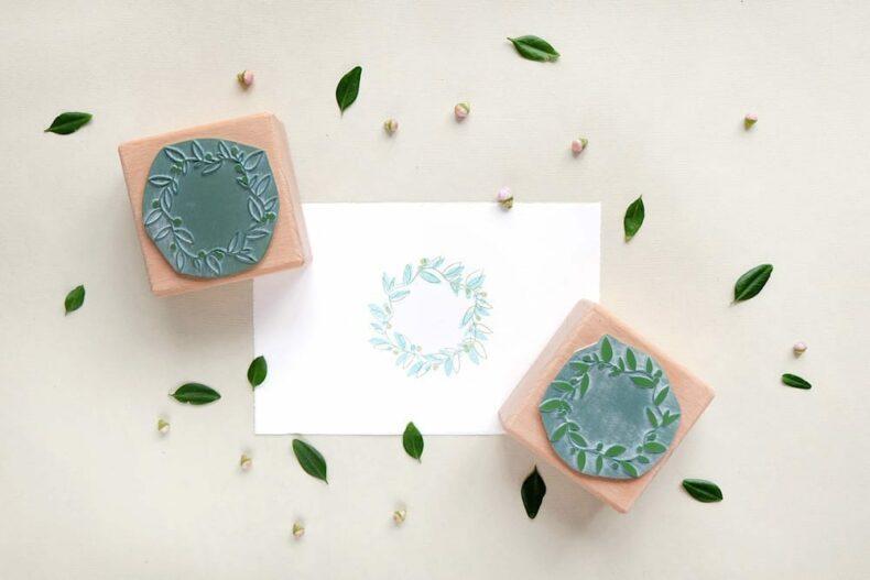 Stempel Blumenkranz | rubber stamp floral wreath