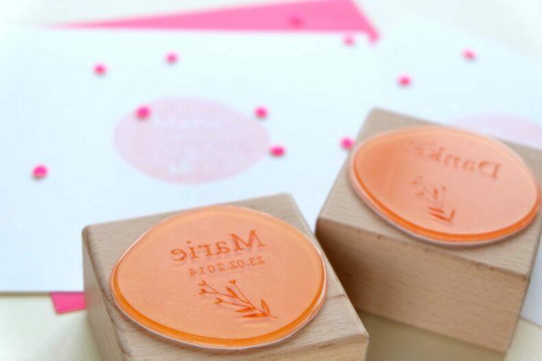 Stempel zur Geburt & Taufe   birth announcement rubber stamps