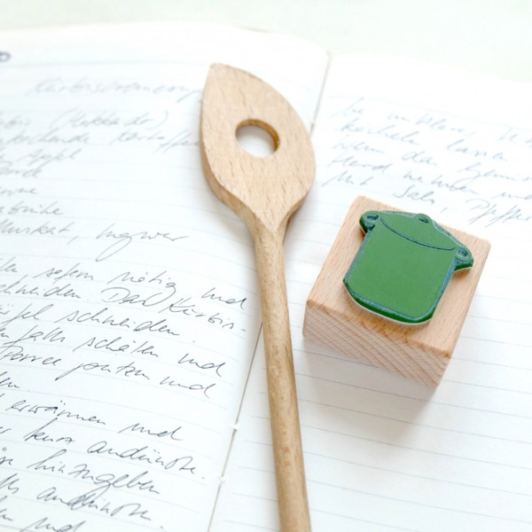 Küchenstempel Kochtopf   rubber stamp kitchen pot