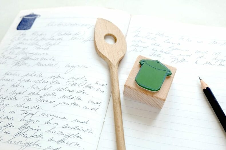 Küchenstempel Kochtopf | rubber stamp kitchen pot