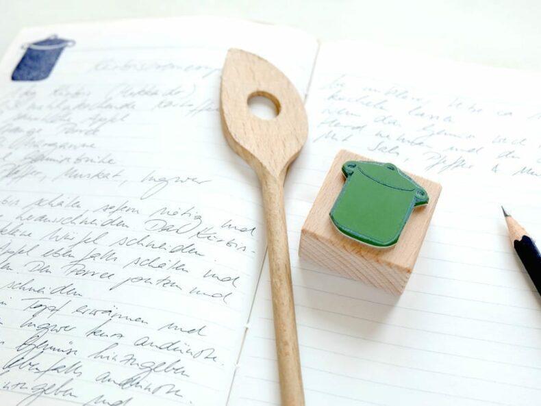 Küchenstempel Kochtopf | rubber stamp kitchen pot