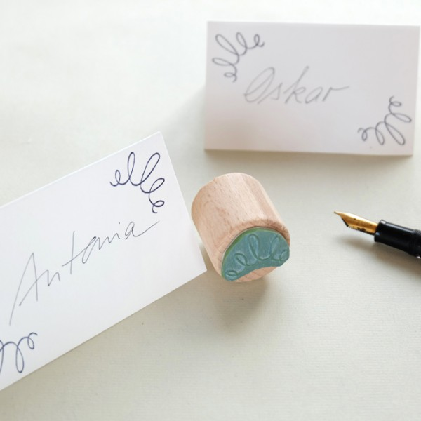 Stempel Ornament Kringel | rubber stamp ornament squiggle