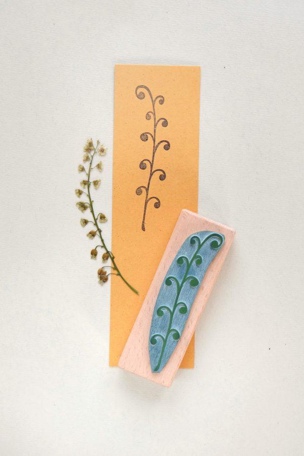 Stempel Pflanze Farn | rubber stamp farn