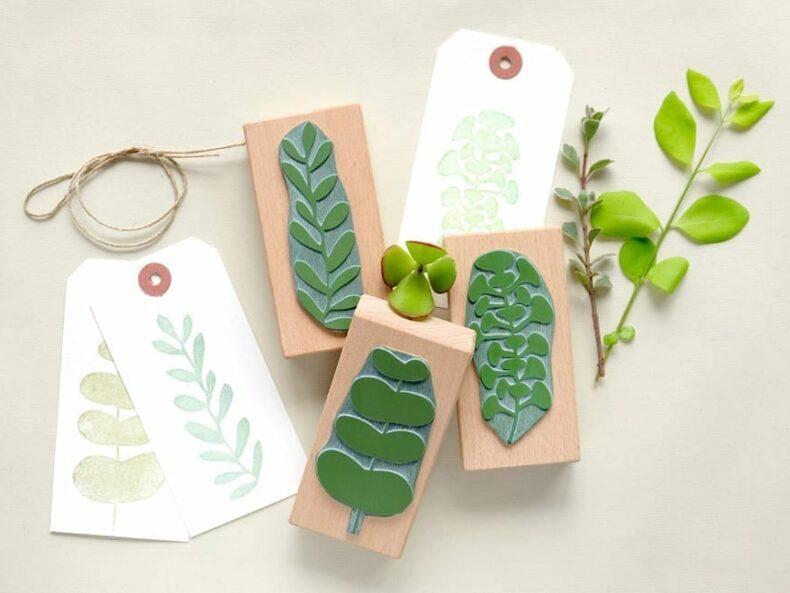Botanisches Stempel Set | Botanical rubber stamp set