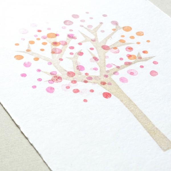 Stempel Zackenbaum mit Pünktchen | rubber stamp spiky tree with dots