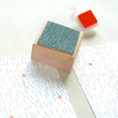 abstrakter Stempel Striche Regen | abstract rubber stamp rain