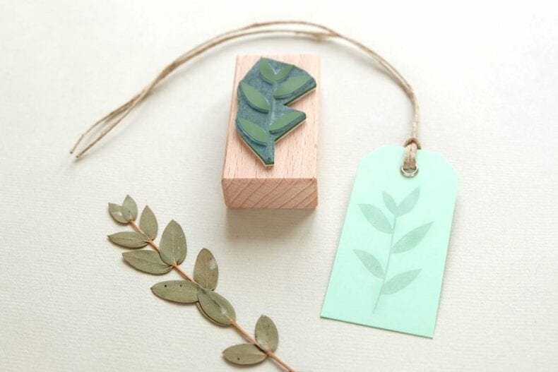 Stempel Korallenbeere | rubber stamp coral bead plant