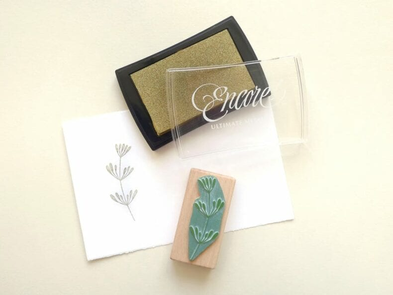 Stempelkissen Encore gold | ink pad gold