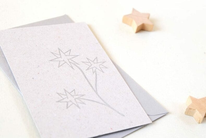Weihnachtsstempel Sternblume | christmas rubber stamp starflower