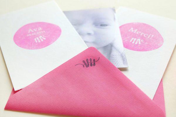 Stempel zur Geburt | birth announcement rubber stamp