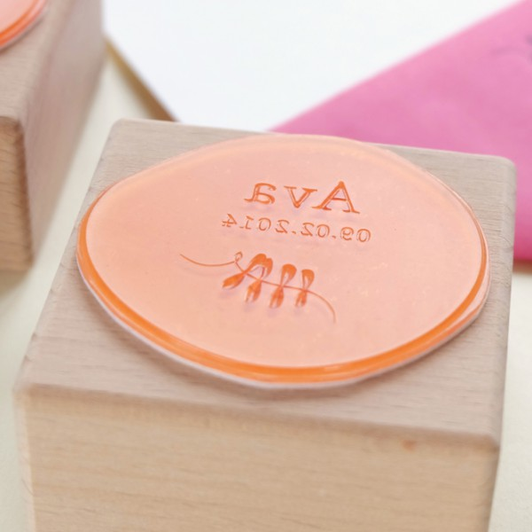 Stempel zur Geburt | birth announcement rubber stamp
