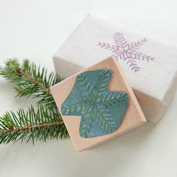 Weihnachtsstempel Stern mit Zweigen