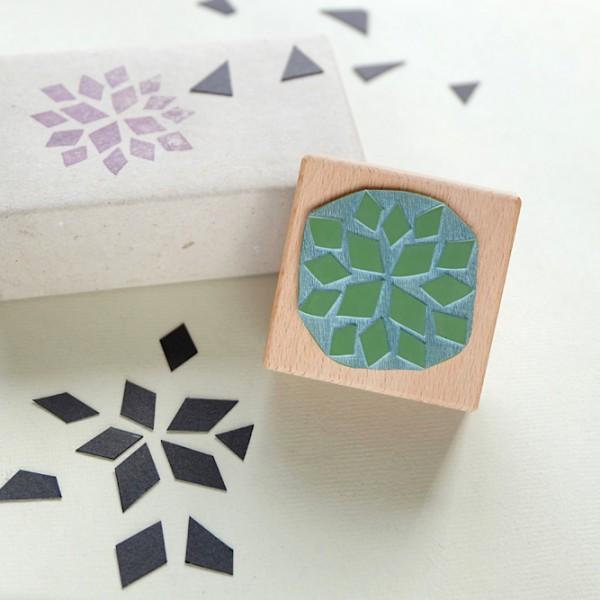 Weihnachtsstempel-Set Sterne | christmas rubber stamp set stars