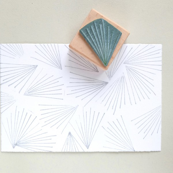 abstrakter Stempel Strahlenkranz | abstract rubber stamp corona lines