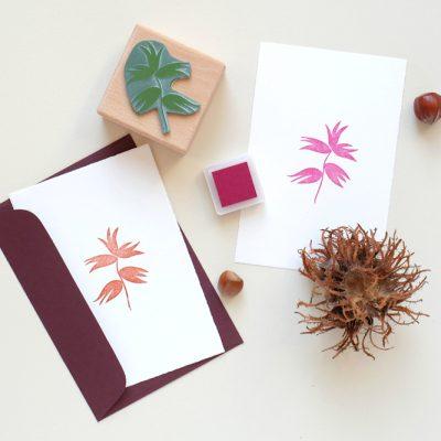 Weihnachtsstempel Haselnuss | christmas rubber stamp hazelnut