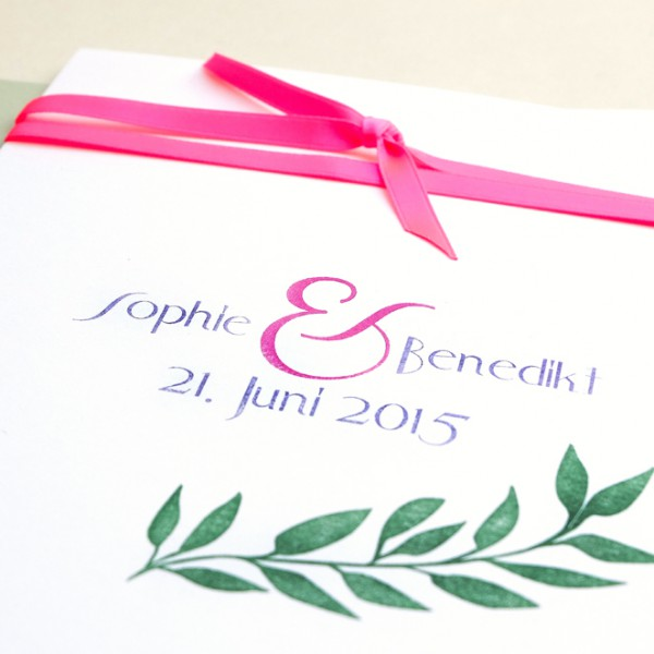 Individuelle Hochzeitsstempel Ampersand | custom wedding rubber stamps ampersand